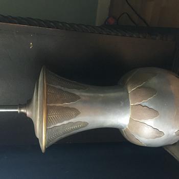 Interesting vintage metal lamp - Lamps