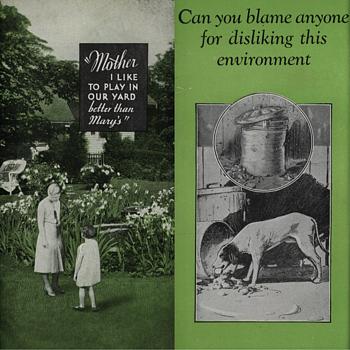 Vintage 1920 Majestic Underground Garbage Receiver Brochure - Paper