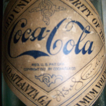 1907 paper lable coca-cola bottle and others