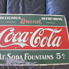 Early 1900s 5 Cent Coca Cola Sign  Meeks