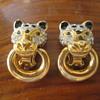 Leopard head earrings