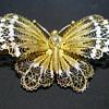 Antique Sterling Filigree .800 Butterfly Brooch,C1920-30