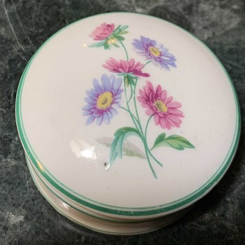 Small Porcelain Container with Flowers on top - Furniture