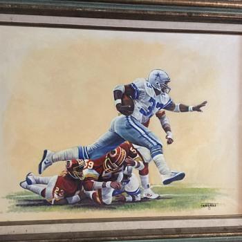 Original oil painting by Dan Gates.