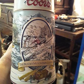 Coors light beer Stein 1992 vintage  - Breweriana