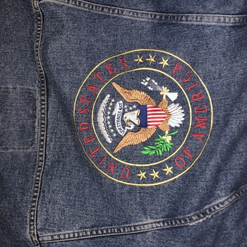 Levi vintage embroidered United States of America seal denim jacket - Mens Clothing