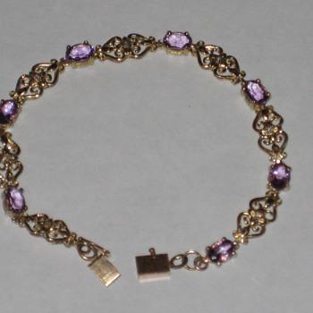 Amathyst & Diamond Bracelet - Fine Jewelry