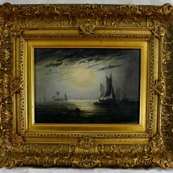 "Beautiful Adolphus Knell (19th C.English) Oil ""Ships On The High Seas"" - Fine Art"