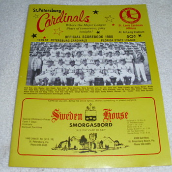 Two vintage St. Petersburg Cardinal's Program Books - Baseball