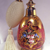 Cranberry Moser Style Enameled Atomzier