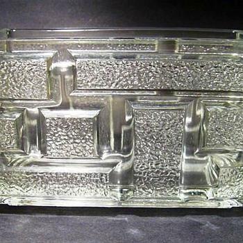 RUDOLFAVA HUT ( Czech ) 1973 - Block Vase - Art Glass