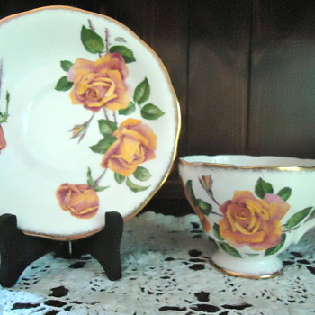 Queen Anne (England) Cup & Saucer - China and Dinnerware