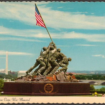 1976 - U.S. Marine Corps War Memorial Postcard - Postcards