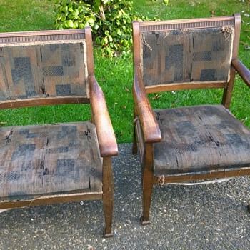 2 Edwardian kids chairs - Furniture