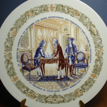 LIMOGES COMM PLATE. Its all in french! and I dont know if this is an important piece...PLEASE HELP - Pottery