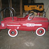 kids fleetline fire engine petal car.
