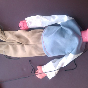 antique popeye and olive oyl marionettes - Dolls