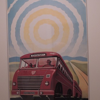 Original 1950s German Railway Travel Poster