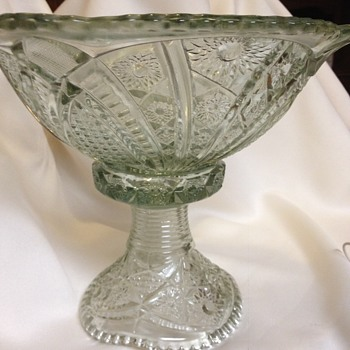 Indiana Glass Punch Bowl with Pedestal - Glassware