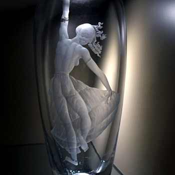 Simon Gate Dancer for Orrefors - Art Glass