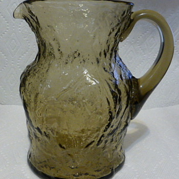 Mystery heavy glass pitcher - Glassware
