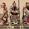 Mid Century Fu Lu Shou Bad Luck Chinese Statues
