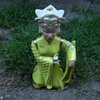 Lovely Asian lady ceramic figurine