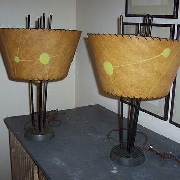 Pair of funky 50's table lamps - Lamps