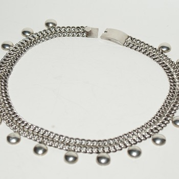 Vintage Mexico Sterling Choker Necklace Marked TNC - Fine Jewelry