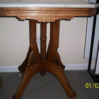 Antique marble top table - Furniture