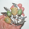 Old Mexican Silver Brooch