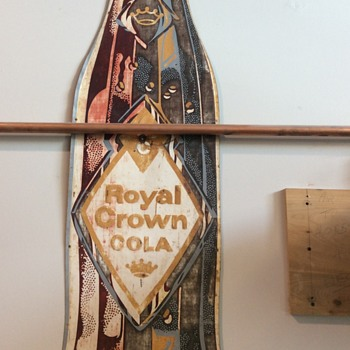 Early embossed royal crown sign