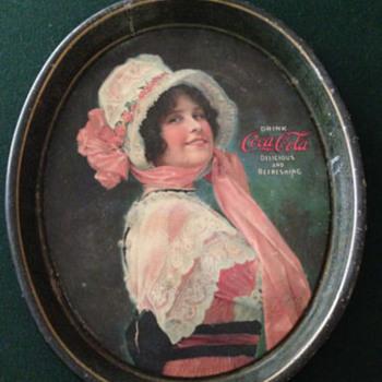 """1914"""" Betty"""" Girl Tray   Coca-Cola - Coca-Cola"""
