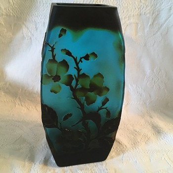 Cameo Glass Vase - Art Glass