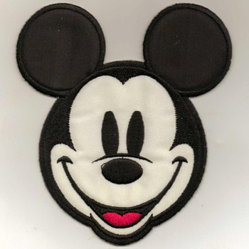 """Mickey Mouse"" Iron-on Patch"