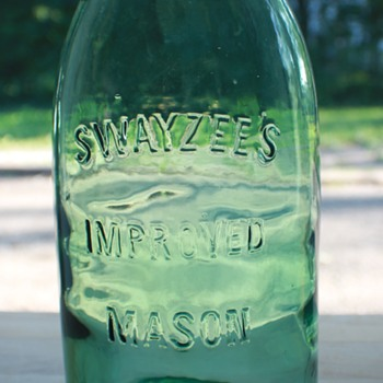 Swayzee's Improved Mason - Beautiful Green - Bottles