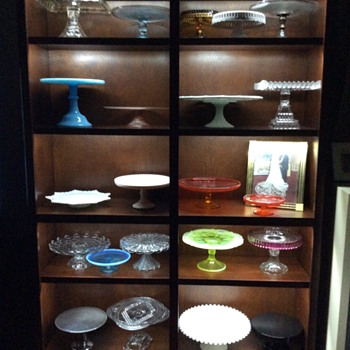The majority of my cake stand collection - Kitchen