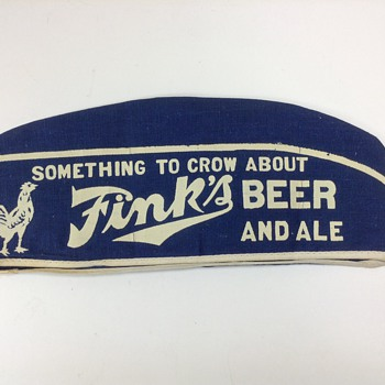 Fink's Beer Soda Jerk Bartender Hat - Breweriana