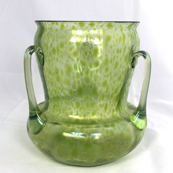 "Loetz ""Diana Ciselé"" Vase with 3 Handles. PN-I 8104. 6"" Tall. Circa 1899 - Art Glass"