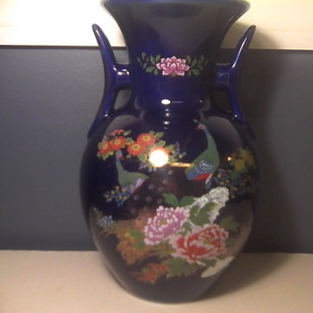 Japanese Peacock Vase