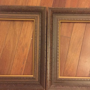 Hand carved wooden frames  - help identify please ??
