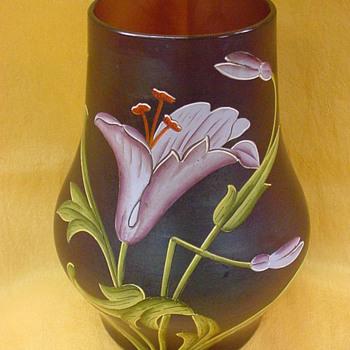 Ferdinand von Poschinger Dunkelviolettes Vase (Buchenau) c.1900 - Art Glass