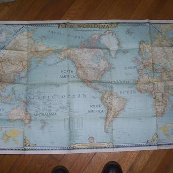 1930 s  maps national geographic  - Paper