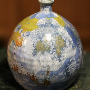 Mid-century Vase with Crystalline Glaze