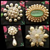 Vintage faux pearl brooches