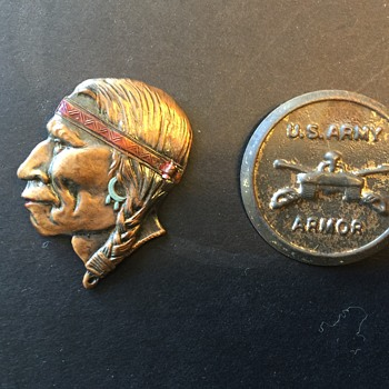 Indian Pin and Military Pin Old