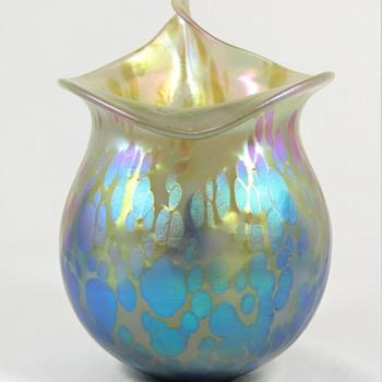 Rare Loetz Phänomen genre 85/5039 ca. 1902 Thea with blu (Bakalowitz) designed by Juttta Sika - Art Glass