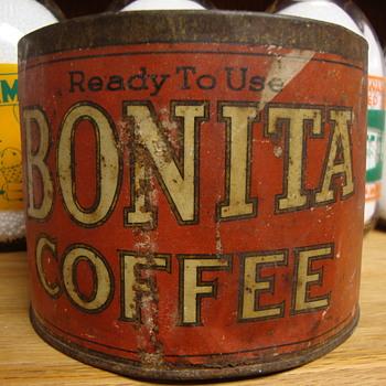 VINTAGE BONITA COFFEE CAN........... - Kitchen
