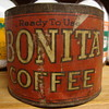 VINTAGE BONITA COFFEE CAN...........