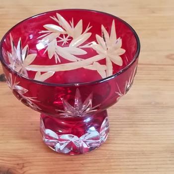 Cut Glass Salt Cellar - Glassware
